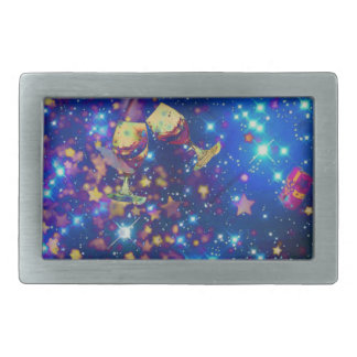 Universe and planets celebrate life with a tost.pn rectangular belt buckle