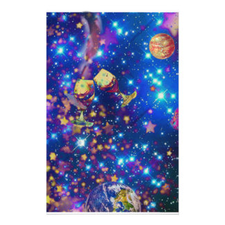 Universe and planets celebrate life with a tost.pn stationery