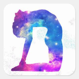 Universe Back Bend Square Sticker