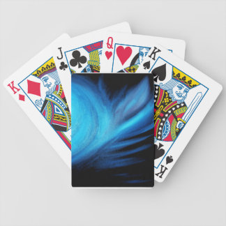 Universe in Blue Bicycle Playing Cards