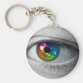 universe in our eyes basic round button keychain