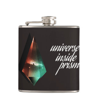 Universe inside prism hip flask