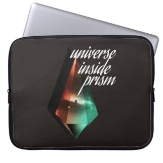 Universe inside prism laptop sleeve