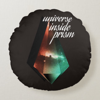 Universe inside prism round pillow