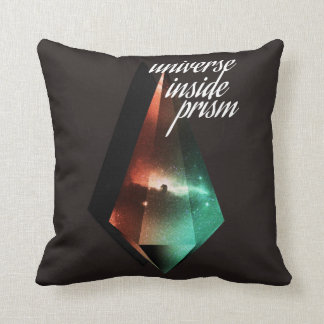 Universe inside prism throw pillow