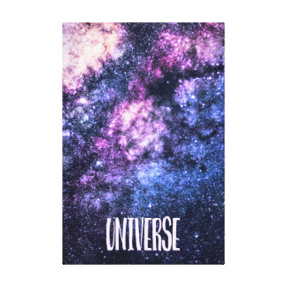Universe photo Milky Way in Night sky Canvas Print