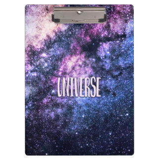 Universe photo Milky Way in Night sky Clipboard