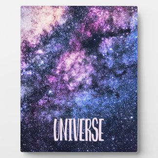 Universe photo Milky Way in Night sky Plaque