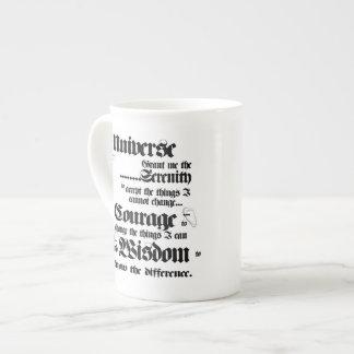 Universe Serenity Prayer bone china mug