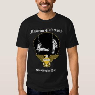 Université de fascisme t shirts