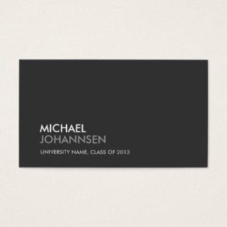UNIVERSITY/COLLEGE STUDENT DARK Business Card