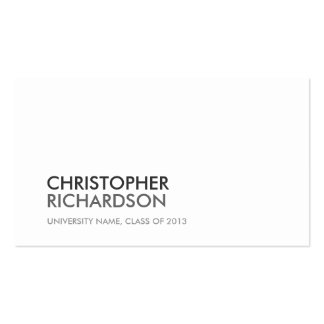 UNIVERSITY COLLEGE STUDENT WHITE Business Card
