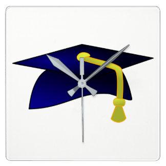 University Hat Square Wall Clock