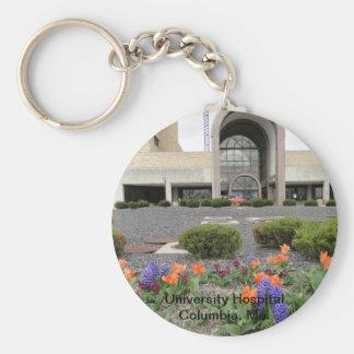 University Hospital, Columbia, Mo. Basic Round Button Keychain