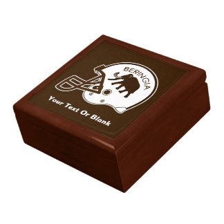 University of Beringia Football Helmet Keepsake Boxes