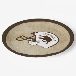 University of Beringia Football Helmet Paper Plate