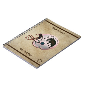 University of Beringia Football Spiral Notebook