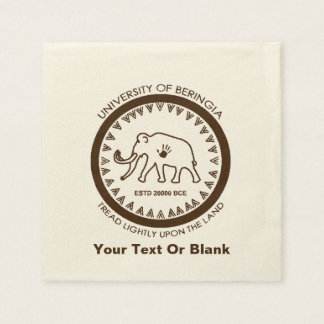 University of Beringia Mammoth Disposable Napkin