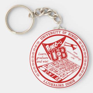 University Of Bingo red seal button Basic Round Button Keychain