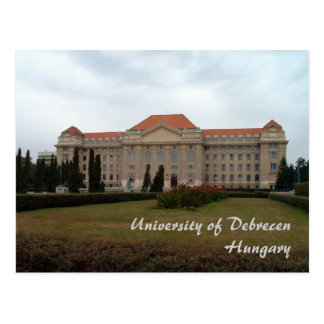 University of Debrecen Postcard