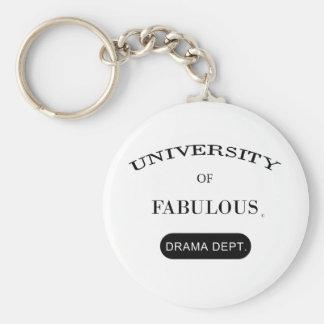 University of Fabulous (Drama Dept.) Basic Round Button Keychain