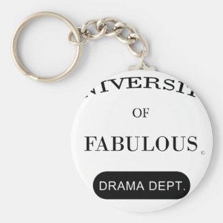 University of Fabulous Drama Dept Keychain