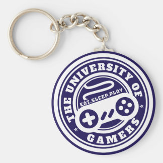 University of Gamers Seal Gaming Keychain