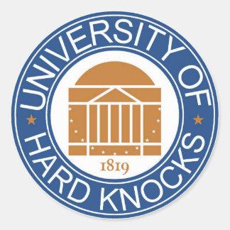 University of Hard Knocks Classic Round Sticker