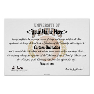 University of Pluto Diploma Poster