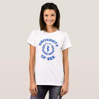 University of Ska  - Ladies Brighton blue design T-Shirt