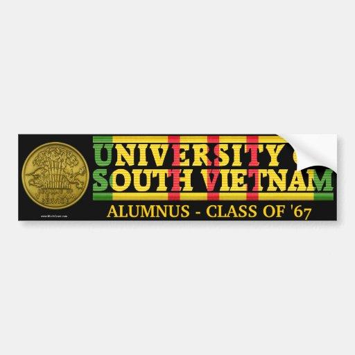 University of South Vietnam Alumnus Sticker Bumper Stickers