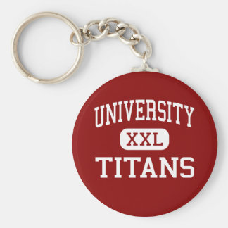 University - Titans - High - Spokane Washington Keychain