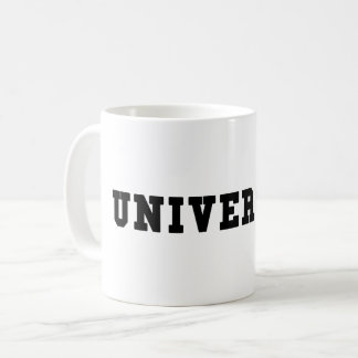 UNIVERSITY with Black Lettering Coffee Mug