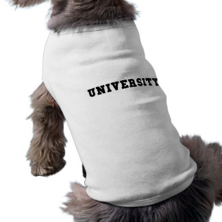 UNIVERSITY with Black Lettering Shirt