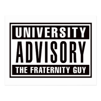 Univserity Advisory The Guy Postcard