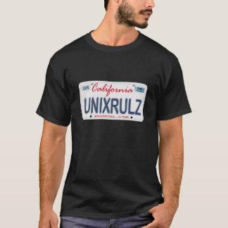 Unix Rules License Plate T-Shirt