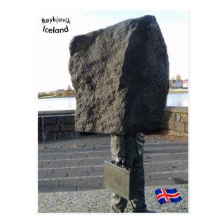 Unknown Bureaucrat memorial, Reykjavik, Iceland Postcard