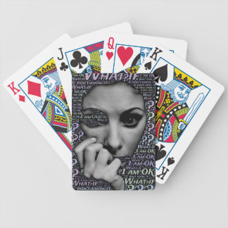 unknown face bicycle playing cards