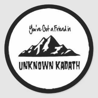 Unknown Kadath Classic Round Sticker