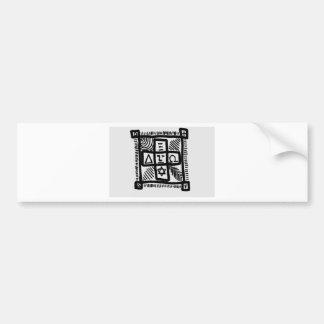 unknown patterns bumper sticker