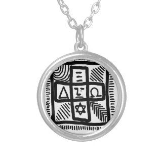 unknown patterns silver plated necklace