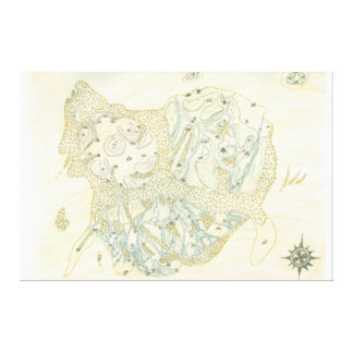 Unlabeled Map of Trino Canvas Print