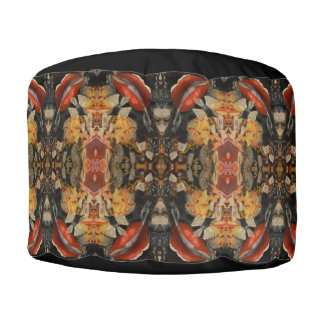 Unleash The Flying Monkeys Pouf Pillow by Deprise
