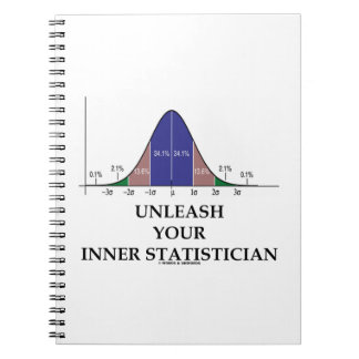 Unleash Your Inner Statistician (Bell Curve Humor) Spiral Notebooks