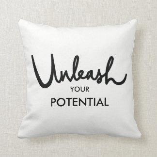 Unleash Your Potential | Positive Attitude Throw Pillow
