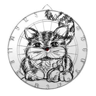 Unlikely Friends Cat and Mouse Dartboard