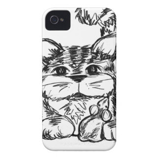 Unlikely Friends Cat and Mouse iPhone 4 Case-Mate Cases