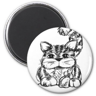 Unlikely Friends Cat and Mouse Magnet