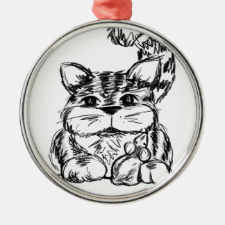 Unlikely Friends Cat and Mouse Metal Ornament