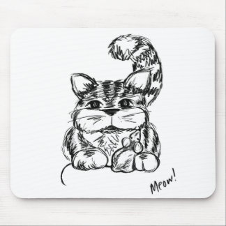 Unlikely Friends Cat and Mouse Mouse Pad